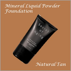 Natural Tan Mineral Liquid Powder Foundation by Secret of Aging