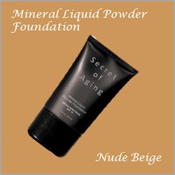 Nude Beige Mineral Liquid Powder Foundation by Secret of Aging