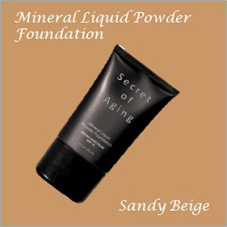 Sandy Beige Mineral Liquid Powder Foundation by Secret of Aging