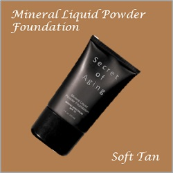 Soft Tan Mineral Liquid Powder Foundation by Secret of Aging