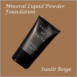 Sunlit Beige Mineral Liquid Powder Foundation by Secret of Aging