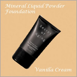Vanilla Cream Mineral Liquid Powder Foundation by Secret of Aging