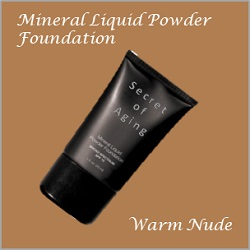 Warm Nude Mineral Liquid Powder Foundation by Secret of Aging
