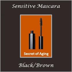 Sensitive Mascara Black Brown by Secret of Aging
