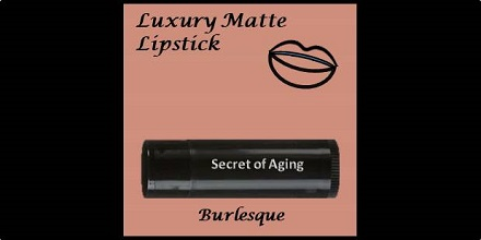 Luxury Matte Lipstick Burlesque by Secret of Aging