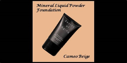 Mineral Liquid Powder Foundation Cameo Beige by Secret of Aging