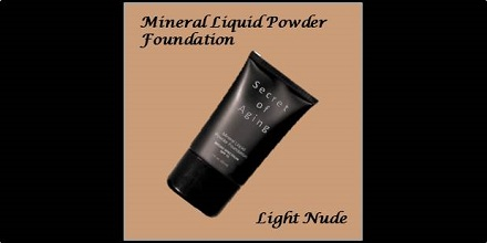 Mineral Liquid Powder Foundation Light Nude by Secret of Aging