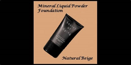 Mineral Liquid Powder Foundation Natural Beige by Secret of Aging