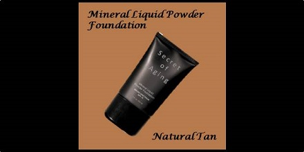 Mineral Liquid Powder Foundation Natural Tan by Secret of Aging