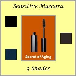 Sensitive Mascara in 3 Shades by Secret of Aging