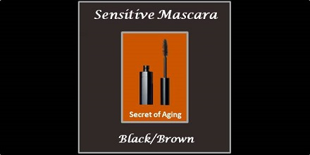 Sensitive Mascara Black Brown by Secret of Aging