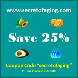 25 Coupon Code secretofaging 250 x 250