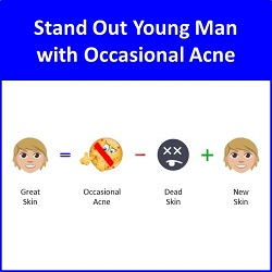 Secret of Aging Stand Out Young Man with Occasional Acne Skincare Routine