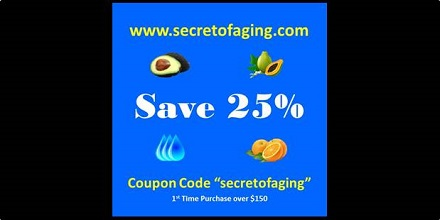 Secret of Aging 25% Off Coupon Code