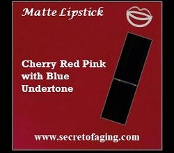 Cherry Red Pink with Blue Undertone