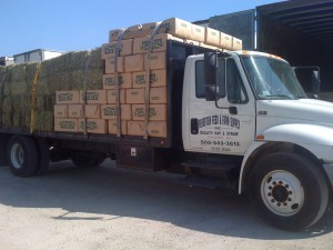 Hay & Straw Delivery Truck