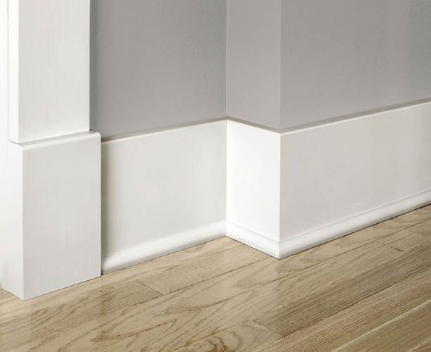 Simple baseboard with trim