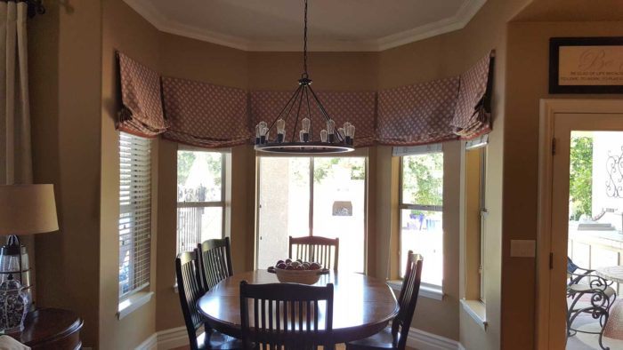 circular dining room with Relaxed Roman Valance