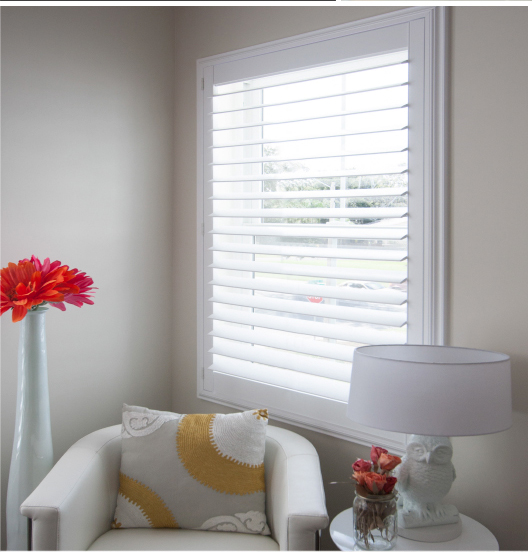 Shutter window with invisable tilt