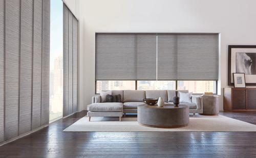 Grey formal living space