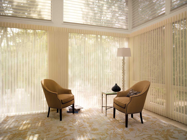 bright sunlight through glass walls