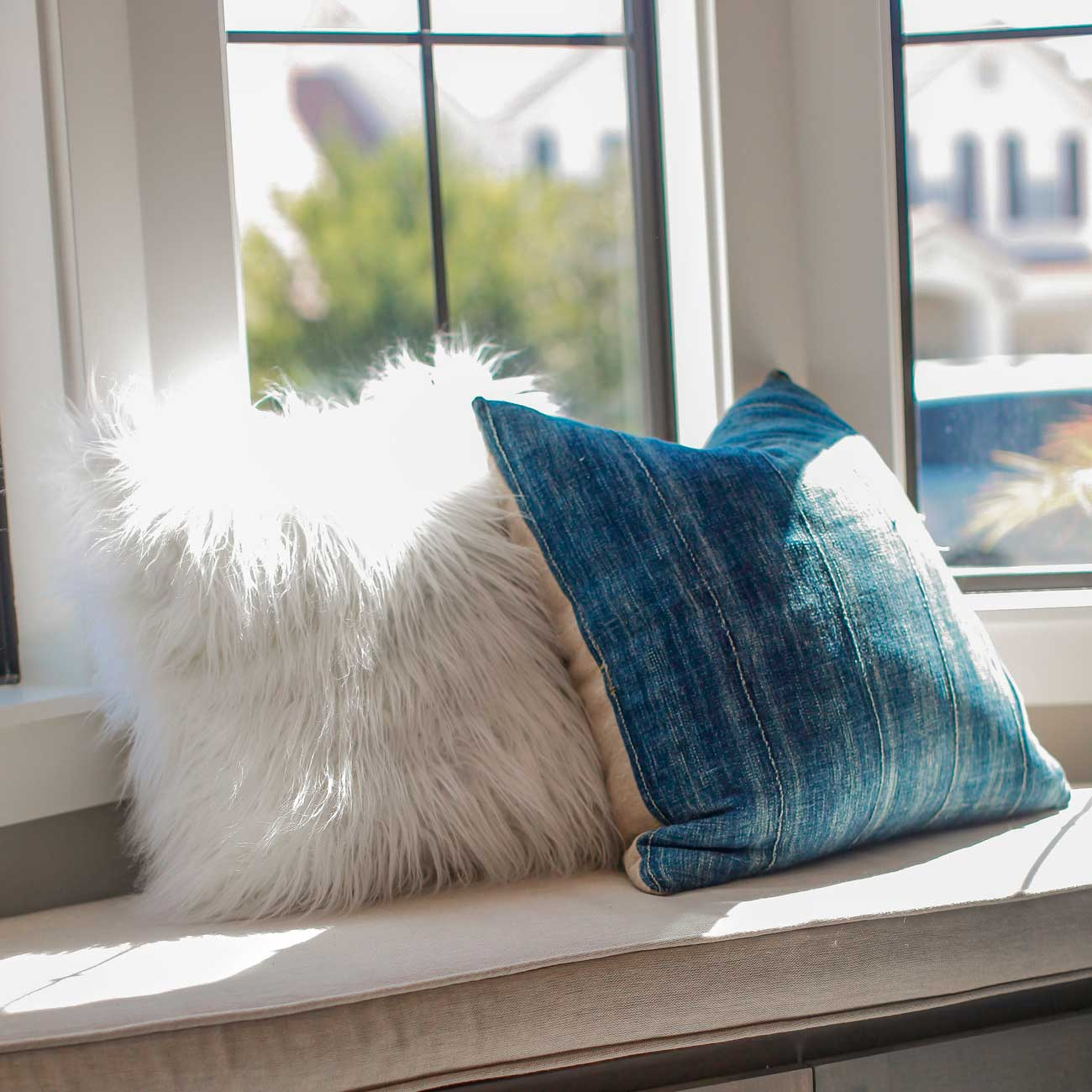 Furry and blue