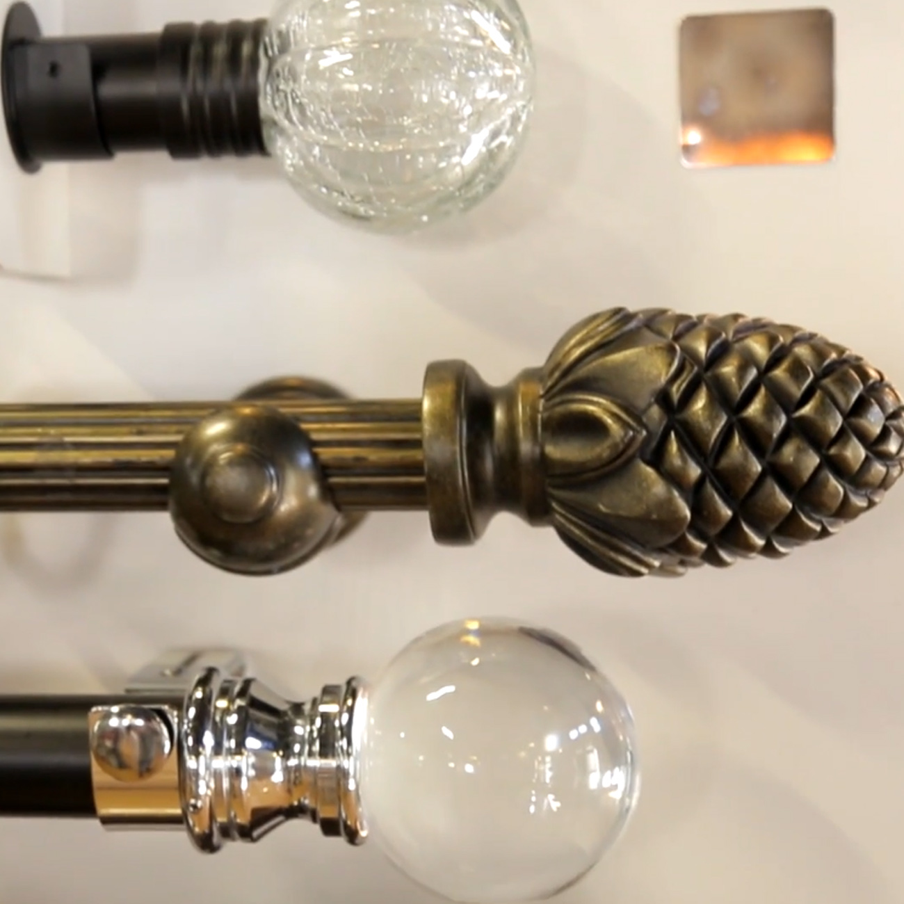 knobs and ends for curtain rods