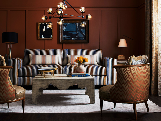 2019 Colors of the year - interiors of a living space with couches