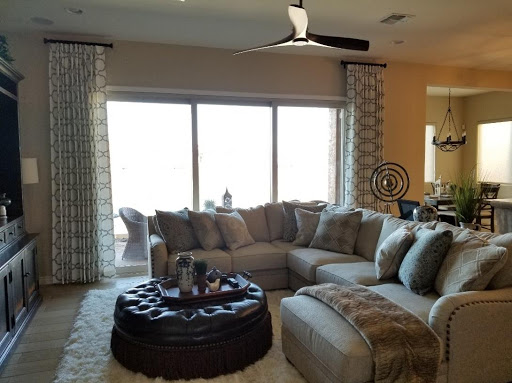 curtains in phoenix - interiors of a living room with furnishings
