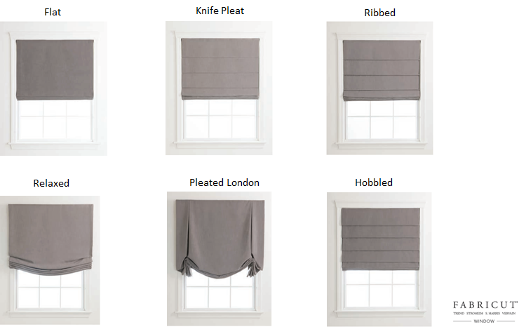 Roman Shades - ALL STYLES