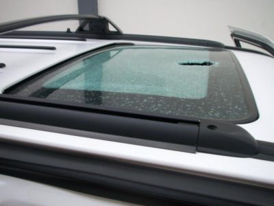 Broken Sunroof Glass Specialty Glass Replacement Auto Glass Repair San Antonio