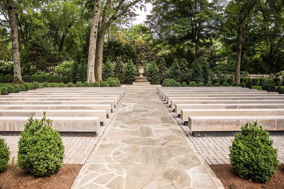 outdoor wedding venue garden