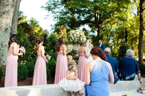 wedding ceremony in Belle Meade plantation