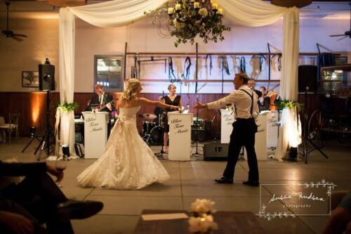 horse stable décor wedding pics