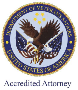 "Donald D. Vanarelli, Esq. is honored to have received accreditation by the Department of Veterans Affairs (""VA"") to prepare, present and prosecute claims for veterans before the VA."