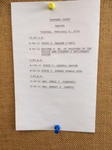 Supreme Court Agenda February 4, 2014