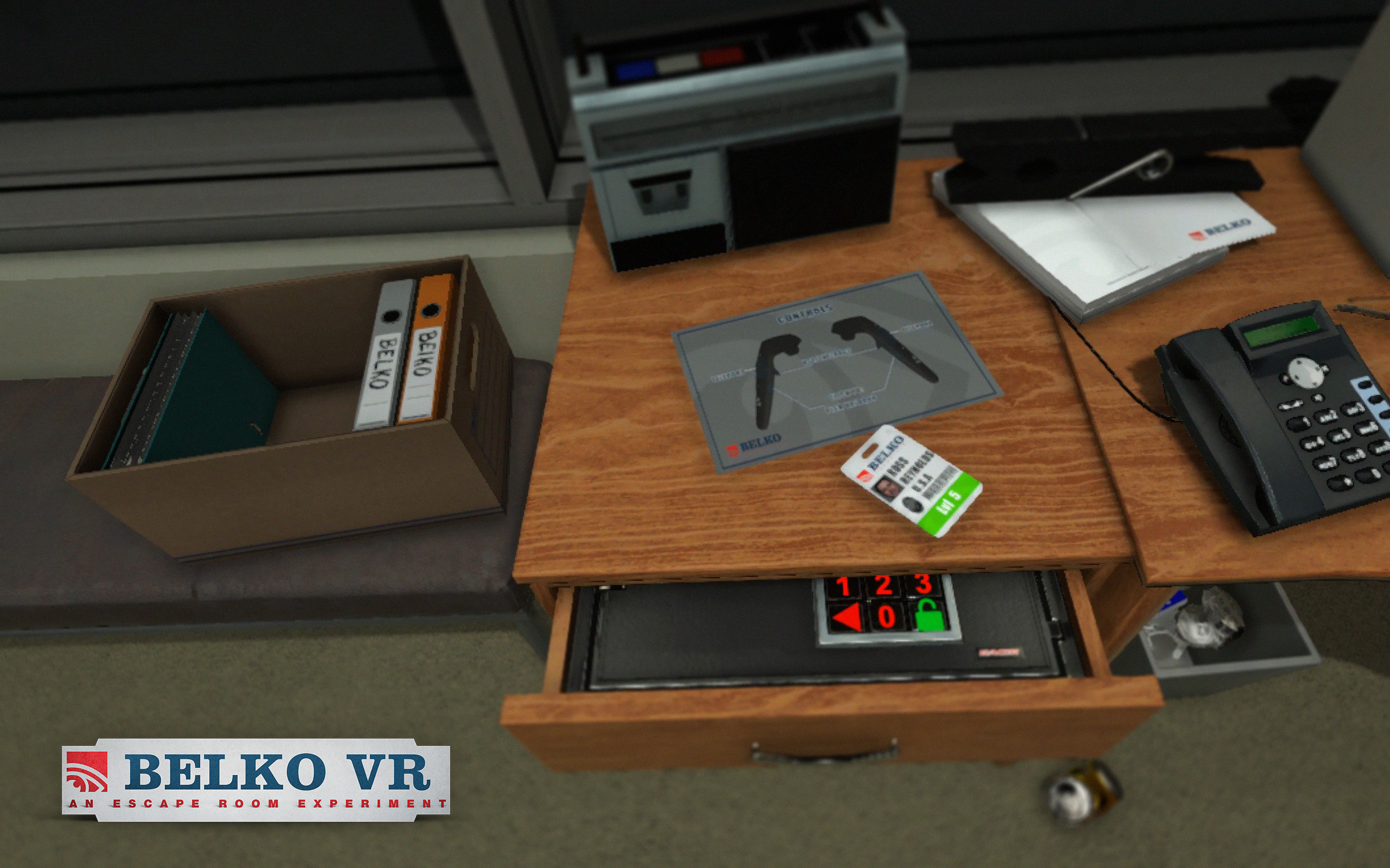 Belko VR: An Escape Room Room Experiment