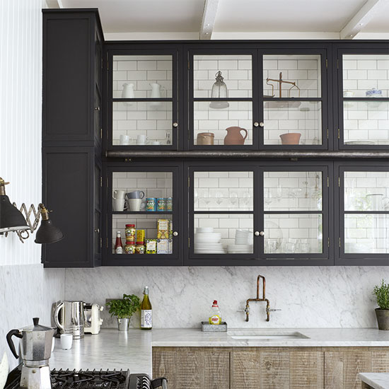 black-kitchen-wall-cabinets---Housetohome.co.uk