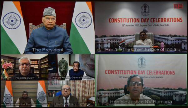 President inaugurates Supreme Court Constitution Day in a virtual manner