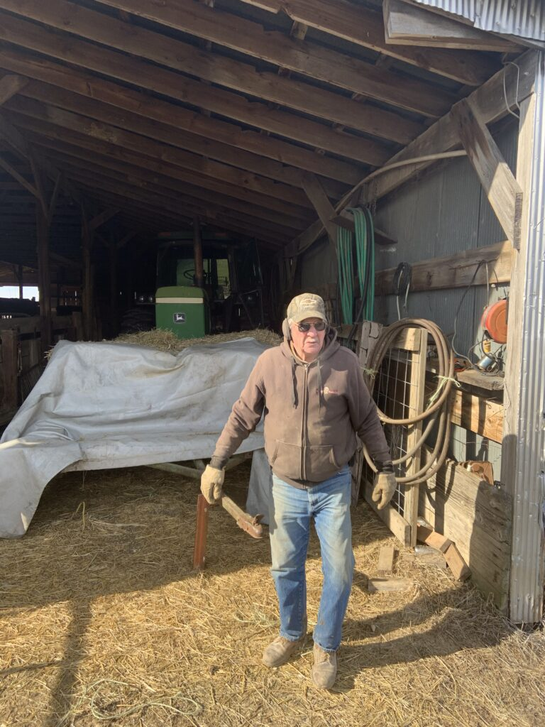 Steve Kluemper's Dad and barn