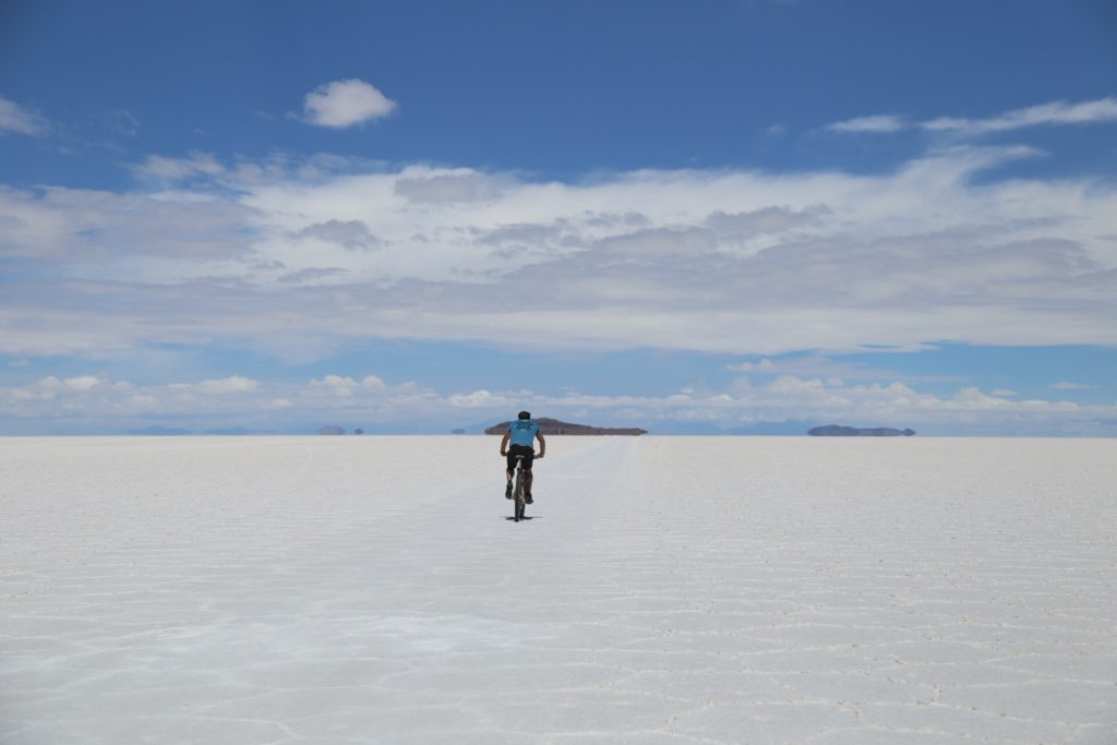 de bike no salar do Uyuni