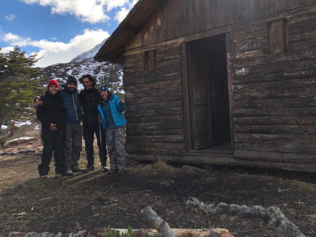 Amigos no Refugio Cerro Bonete
