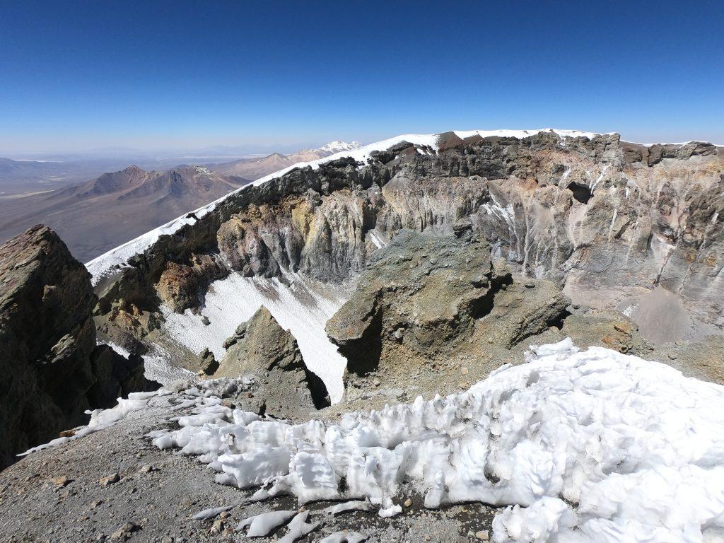 Cratera Vulcão Parinacota