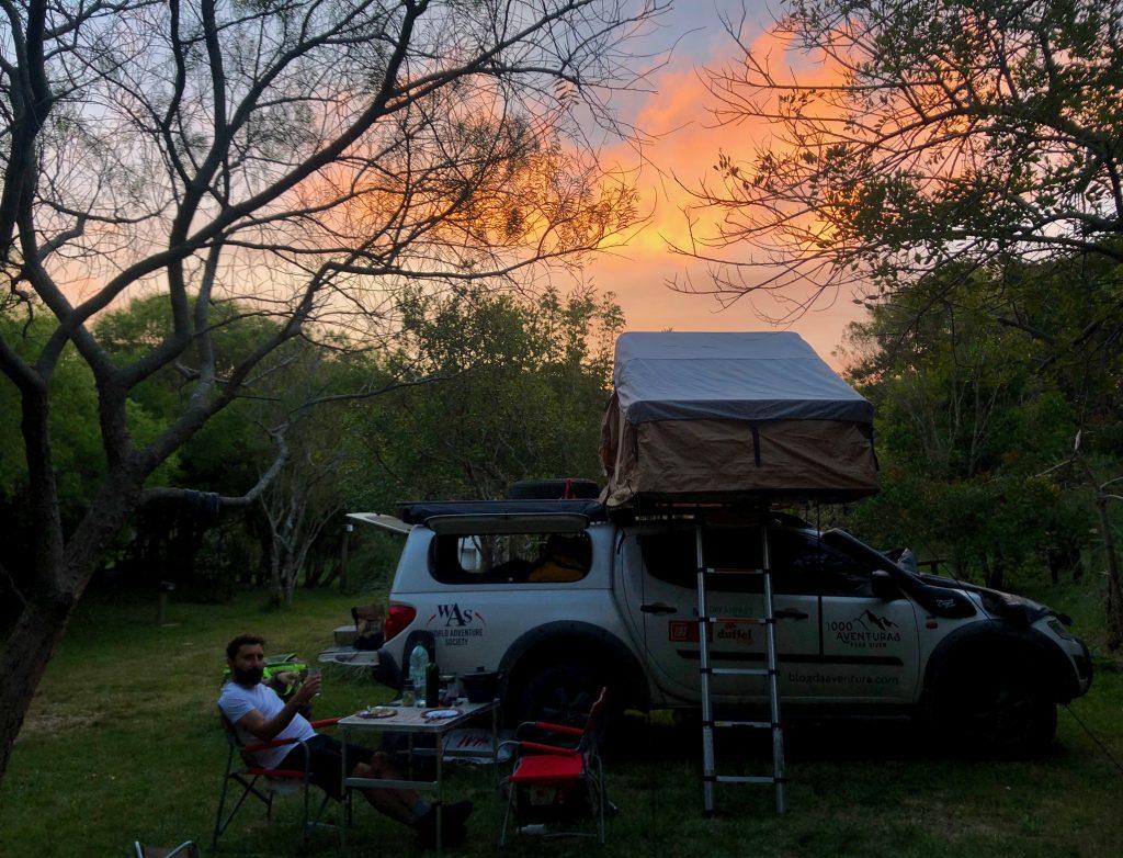 Camping em Punta Rubia no Uruguai