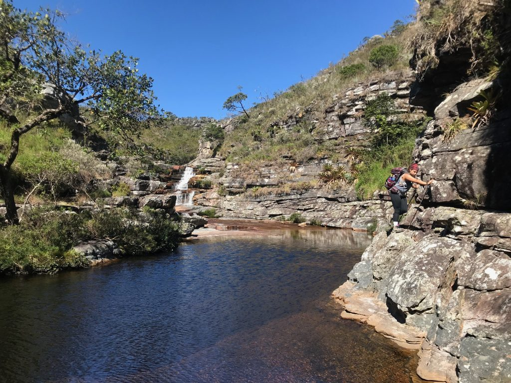 Parte alta Cachoeira do tabuleiro