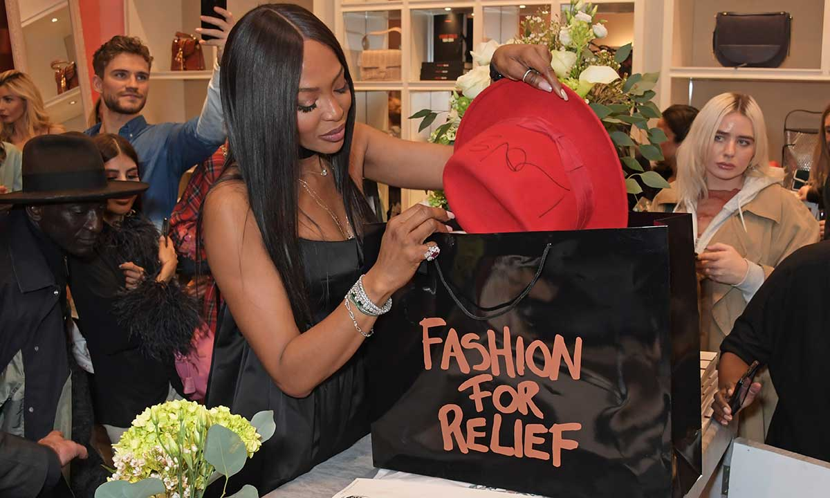 Naomi Campbell's Fashion For Relief Pop-Up at Westfield London
