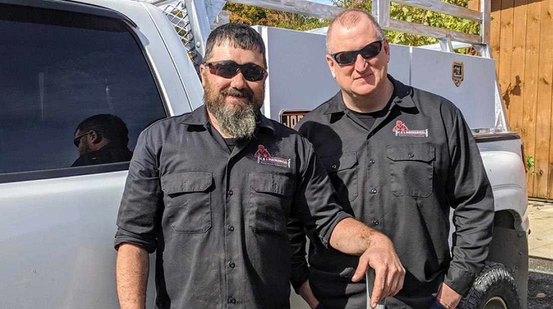 C&L Mechanical Company team Nelson and Dan