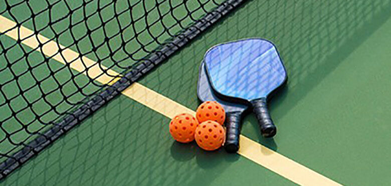 pickleball paddles and balls