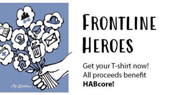 Frontline Heroes t-shirt artwork