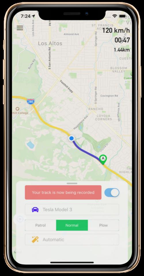 MESH Tracks App Screenshot